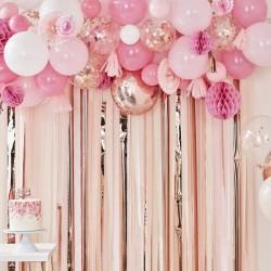 """Guirlande de ballons et accessoires  """"rose et blanc"""""""