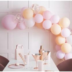 """Arche de ballons """"rose et pêche"""""""
