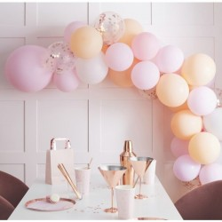 "Balloon arch ""pink and peach"""
