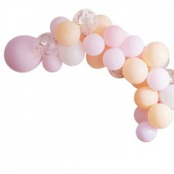"""Balloon arch """"pink and peach"""""""