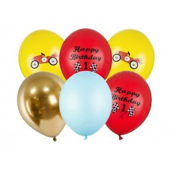 "6 Auto Luftballons ""Happy Birthday"""