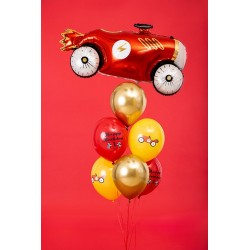 "6 car balloons ""Happy Birthday"""