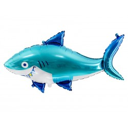 3D aluminium balloon shark