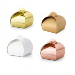 Petites boîtes à friandises 10 pcs - divers coloris