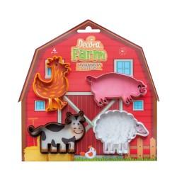 Emporte-pièces Animaux de la ferme en plastique
