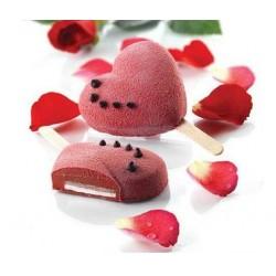 """Moule à glaces """"Coeurs"""" sorbet dessert été love amour glace silicone moule forme coeur"""
