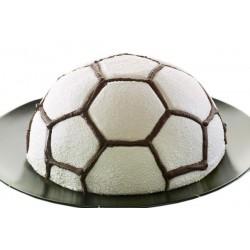 "Moule 3D ""Ballon de foot"" en silicone"