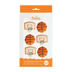 """Decos """"Balls and Basketball nets"""" in sugar"""