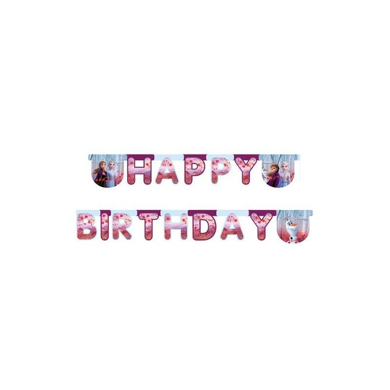 """Garland Happy Birthday """"Frozen 2"""""""