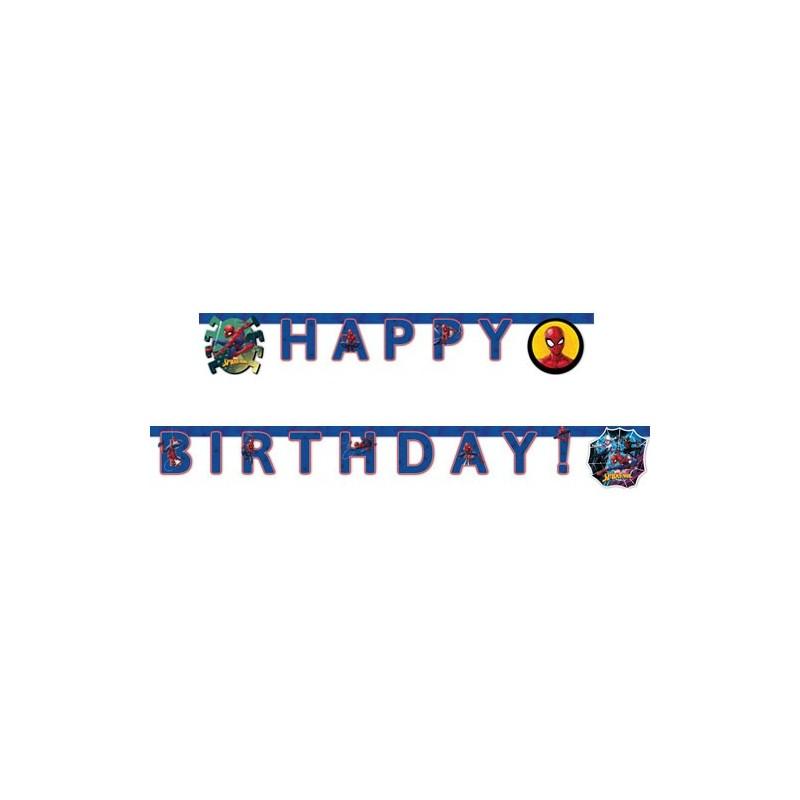 "Garland Happy Birthday ""Spiderman"""