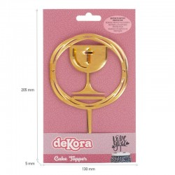 """Cake Topper """"Chalice"""" gold"""