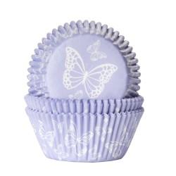Baking cups papillon violet - pk/50
