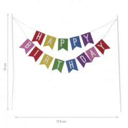 Cake Topper Happy Birthday multicolor
