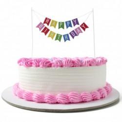 Cake Topper Happy Birthday mehrfarbig