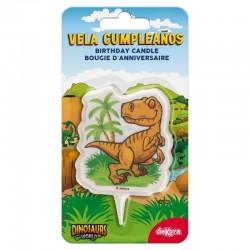 Candle Dinosaur 2D
