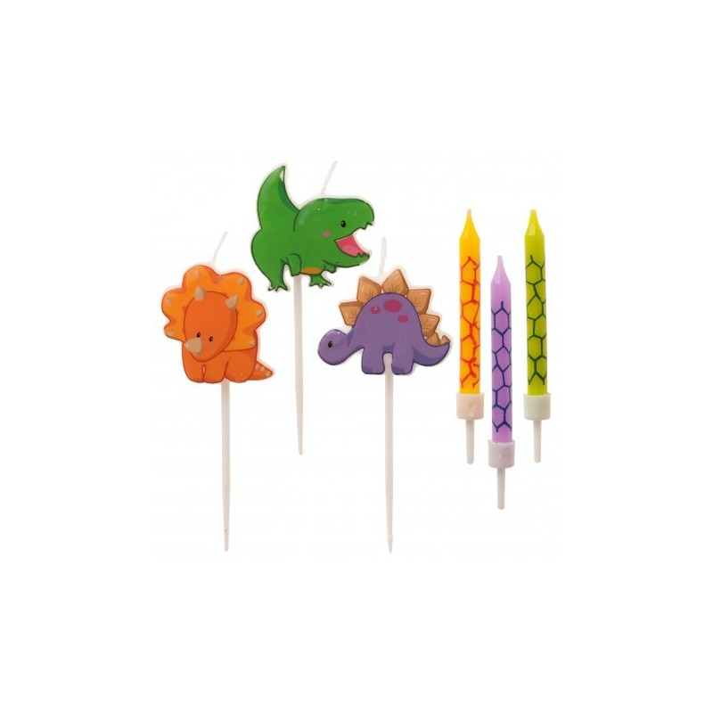 "Candles ""Dinosaur""- 15pcs"
