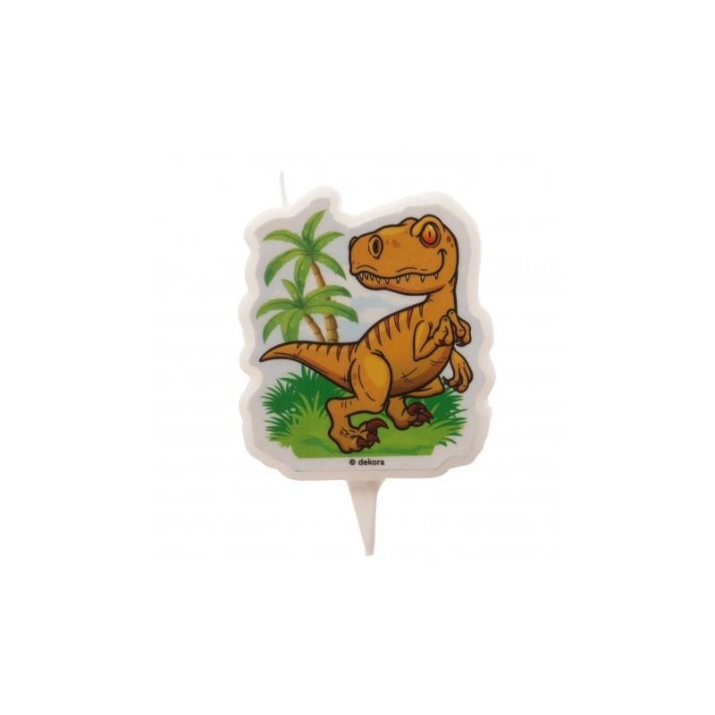 "2D Candle ""Dinosaur"""