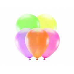 5 neon balloons of 25 cm