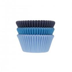 """75 Caissettes à cupcakes """"Assortiment de bleu"""" en papier"""