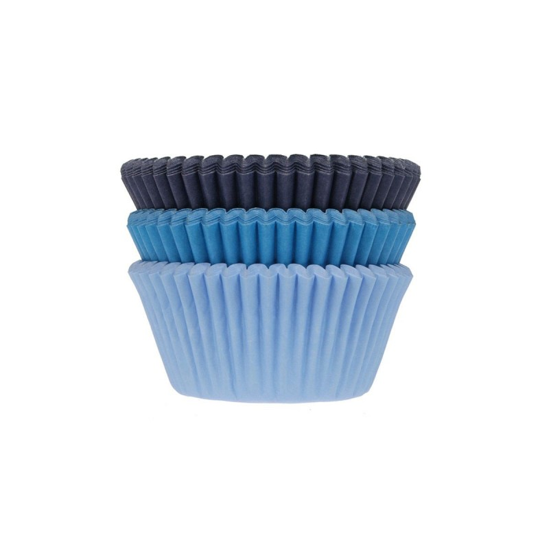 "75 Baking Cups ""Blue assortment"" in paper"