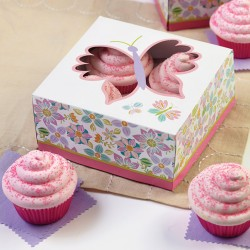 """Boîte à cupcakes """"Délices artistiques"""" pk/3"""