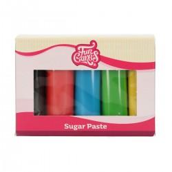 Pâte a Sucre - 5 couleurs