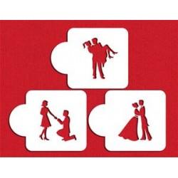 Pochoir silhouettes couple - 8,5cm