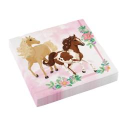 20 serviettes cheval