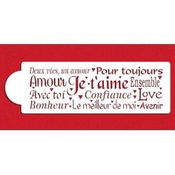 Mots français d'amour - 10x32cm
