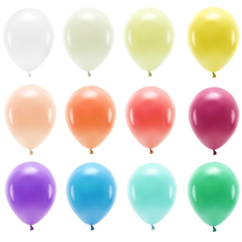 Packs of 10 balloons of 30 cm in different colors