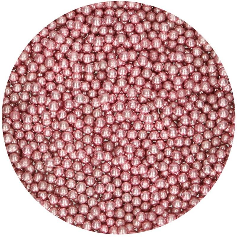 Perles Rose Metallic en sucre