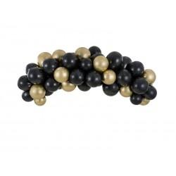 Arche de ballons noir et  or