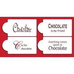 sitation sur le chocolate set/4 - 4,5cm x 8,5cm