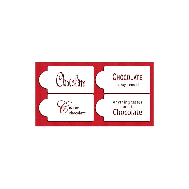 sitation sur le chocolate set/4 - 4,5cm x 8,5cm