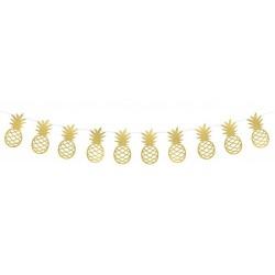 Goldene Girlande Ananas