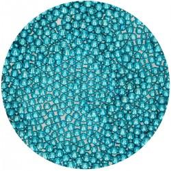 Perles Bleu Metallique en sucre