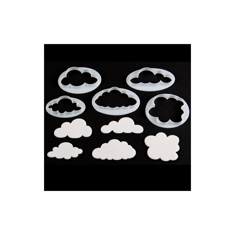 Emportes pièces Nuages buissons moutons set/5