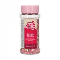 Sprinkle Medley Glamour Pink in sugar