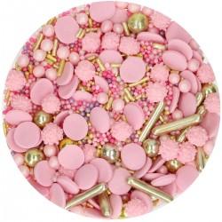 Sprinkle Medley Glamour Pink aus Zucker