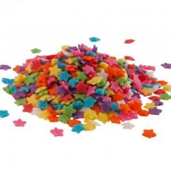 Etoiles en sucre multicolore