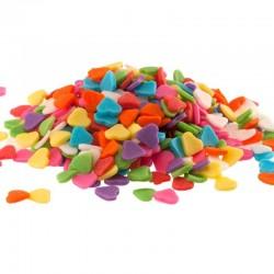Coeurs en sucre multicolore