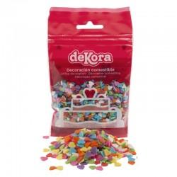 Sugar hearts multicoloured