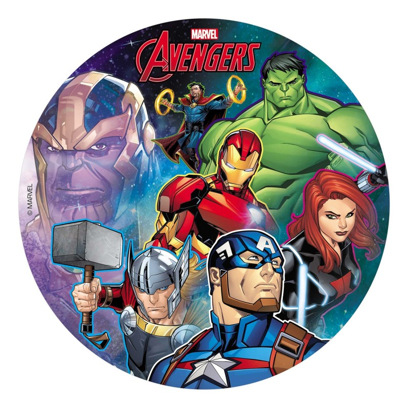 Disc Avengers in wafer paper