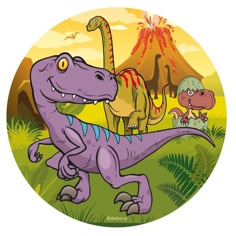 Wafer disc Purple Dinosaur - 20 cm