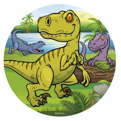Wafer disc Green Dinosaur - 16 cm