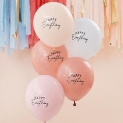 5 Luftballons Pastell