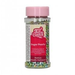 "Perles Métalliques en sucre ""Harlequin"" - 80 g"