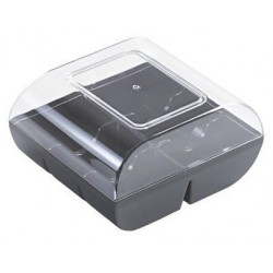 Macaroon box 6pce - Black