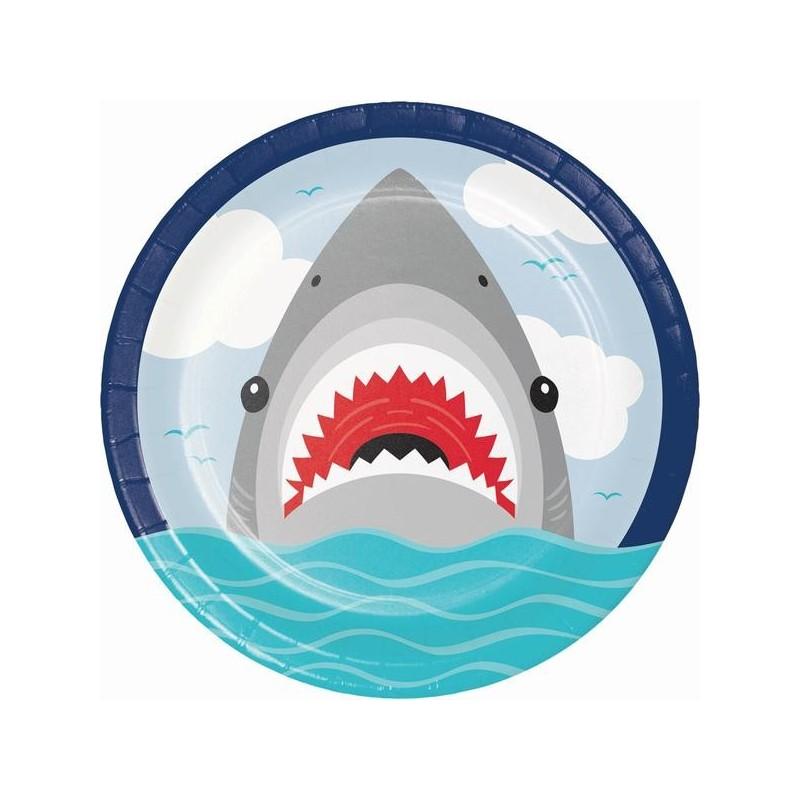 8 Teller Hai-Fisch