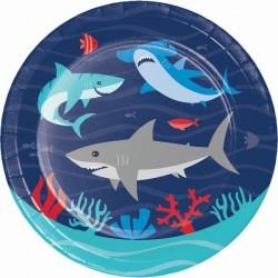 8 Little sharks plates